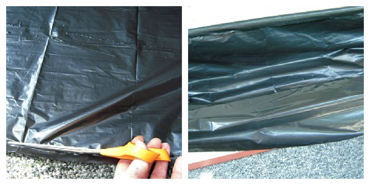How to plant a window box :: Plastic trash bags make great liners for window boxes :: AnExtraordinaryDay.net