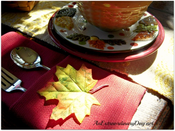 Simple Fall Luncheon :: Fall....It's Extraordinary! :: AnExtraordinaryDay.net