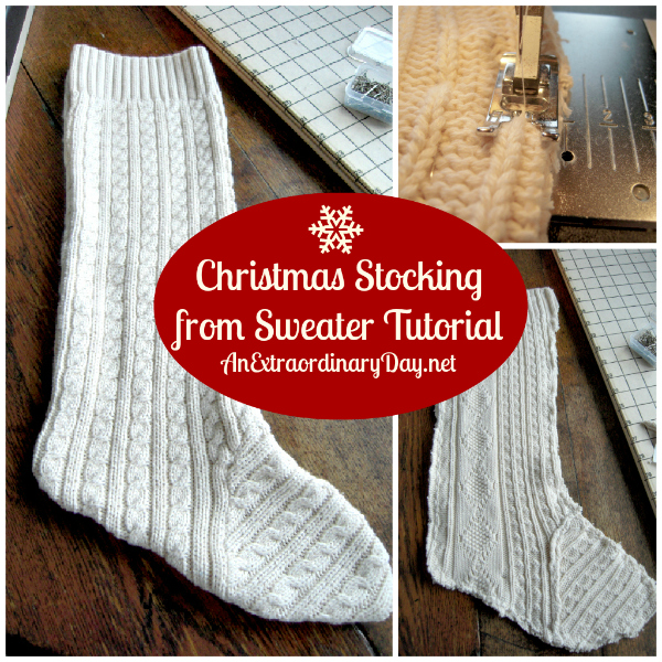 #ChristmasStocking from Sweater :: #Tutorial :: AnExtraordinaryDay.net