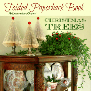 How to Make Folded Paperback Book Christmas Trees at AnExtraordinaryDay.net