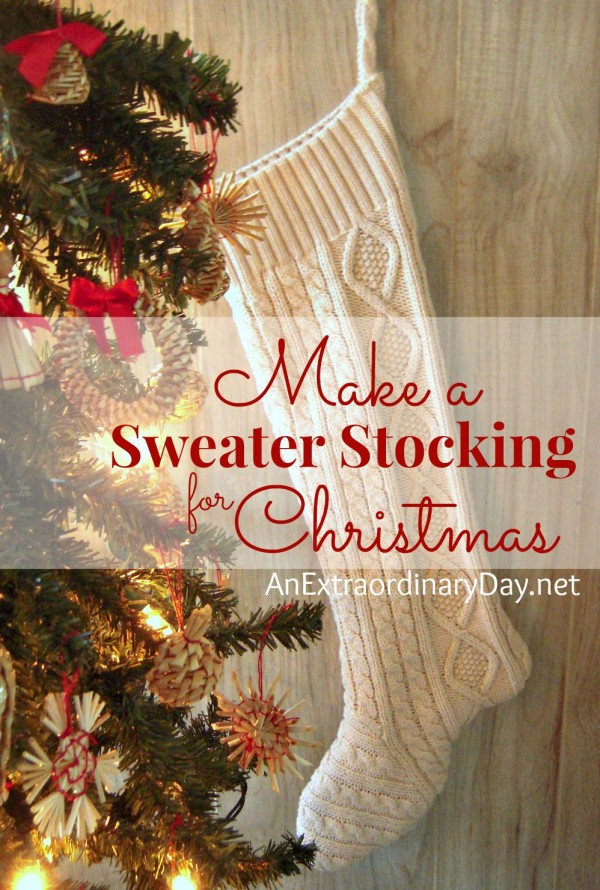 There's something special about a homemade Christmas stocking. Transform a favorite or thrifted sweater to Christmas stocking that will be treasured forever with this easy to follow tutorial :: Make a Sweater Stocking for Christmas with this 12 Step Tutorial.