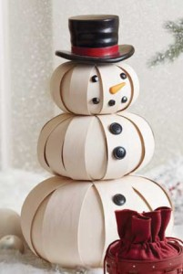 http://www.longaberger.com/lifestyle | Top Hat Snowman - Handmade by Longaberger Basket Weavers - product.12517.large | unique handcrafted gifts