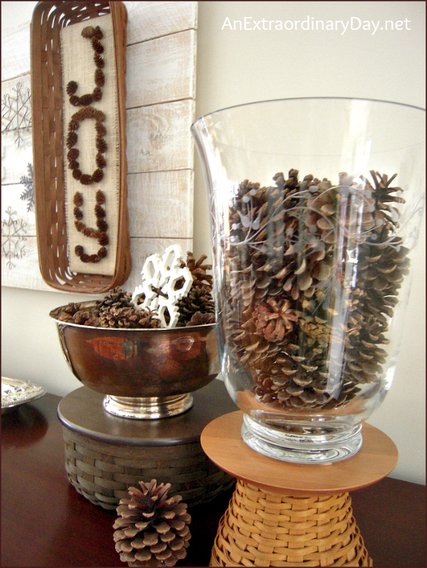 Pine Cones And Snowflakes Winter Decor The Week At A