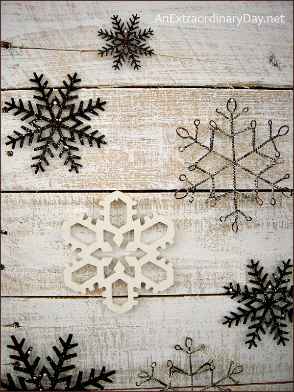 Rustic Whitewashed Snowflake Wall Art |  AnExtraordinaryDay.net