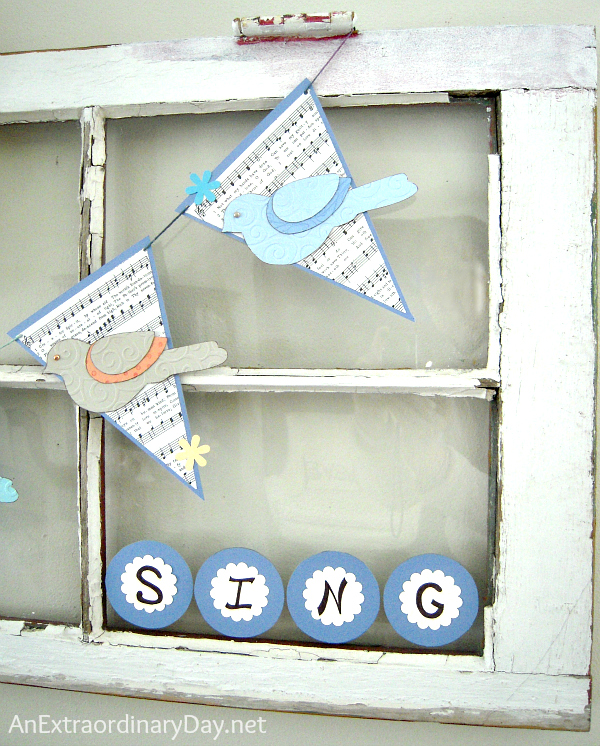 Sing for Spring Vintage Window Banner :: AnExtraordinaryDay.net
