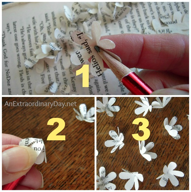 Book Page Flowers :: A Tutorial :: AnExtraordinaryDay.net