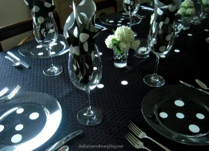 Black Table with White Polka-Dots :: AnExtraordinaryDay.net