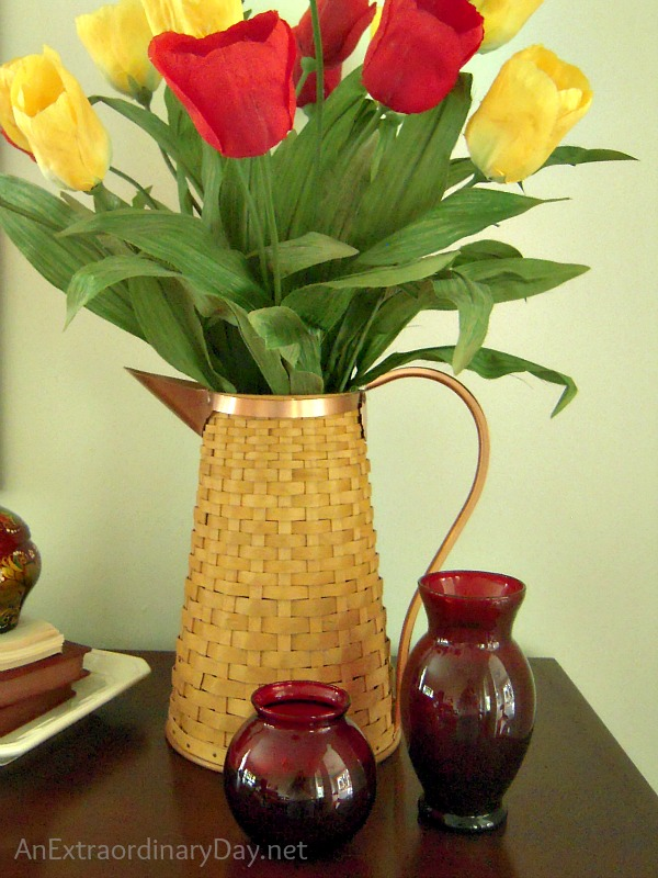 This Moment in Tulip Time :: Vintage Ruby Red Vases :: AnExtraordinaryDay.net