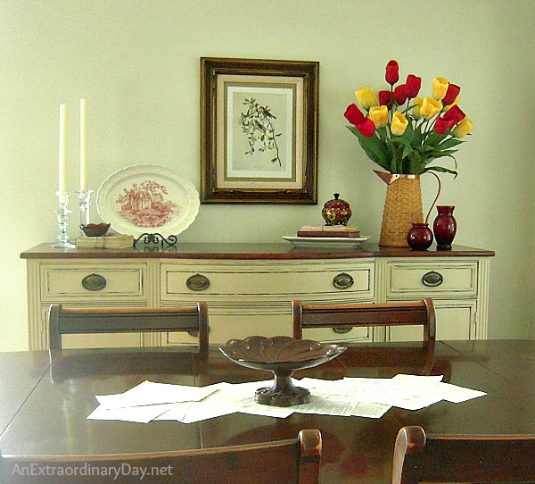 Tulip Time in the Dining Room :: AnExtraordinaryDay.net