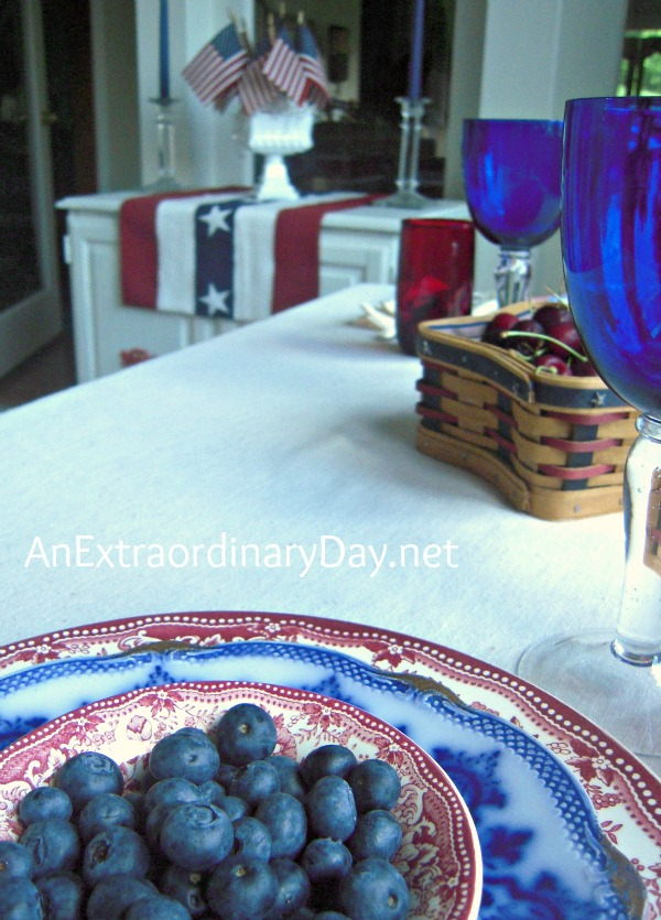 Blueberries for the 4th :: AnExtraordinaryDay.net