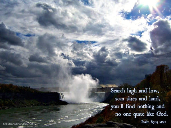 Psalm 89 :: Scripture Photo - Niagara Falls :: AnExtraordinaryDay.net