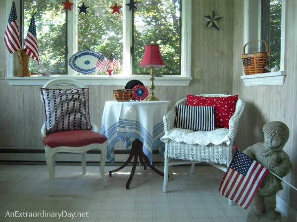 Sunroom Celebrates Independence Day :: AnExtraordinaryDay.net