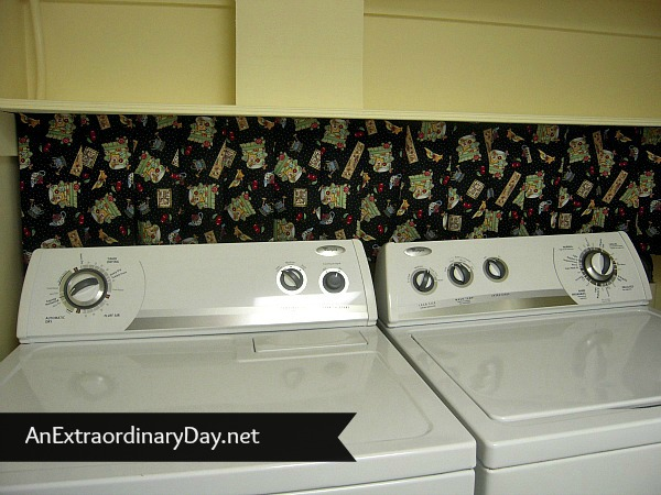 Cute Decorator NO SEW Pleated Laundry Room Skirt Hides Washer Dryer Mechanics :: AnExtraordinaryDay.net
