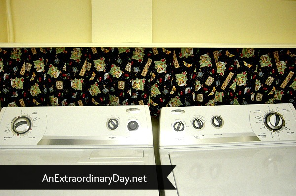 Cute No Sew Laundry Room Skirt :: AnExtraordinaryDay.net