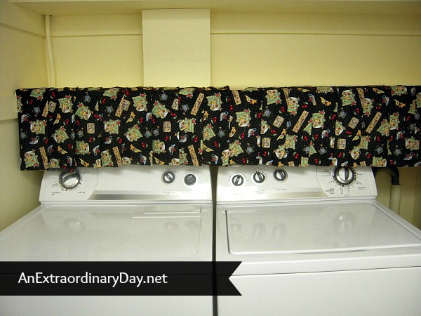 Laundry Room Skirt :: Pleated Decorator Skirt #Tutorial :: AnExtraordinaryDay.net