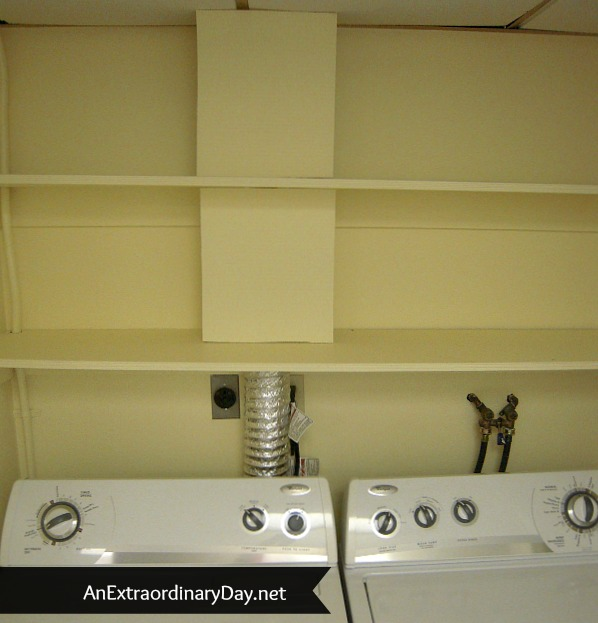 Small Improvement :: #LaundryRoomMakeover - Vent Disguise :: AnExtraordinaryDay.net
