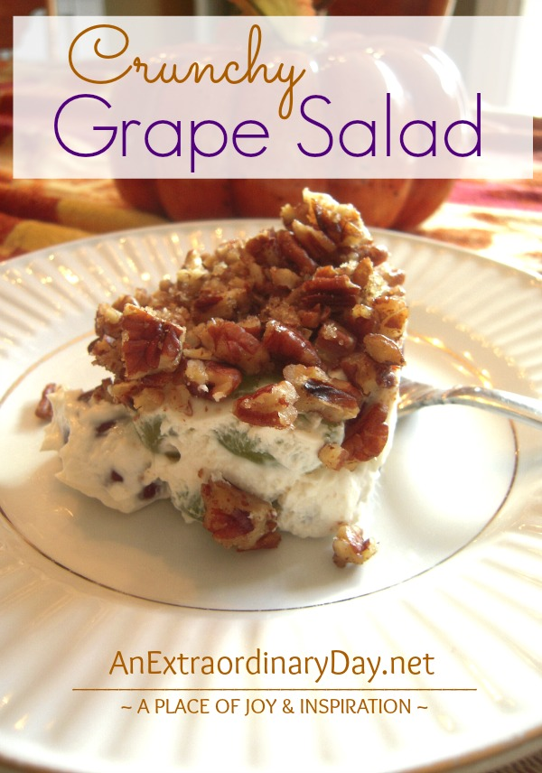 Crunchy Grape Salad Recipe  ::  AnExtraordinaryDay.net