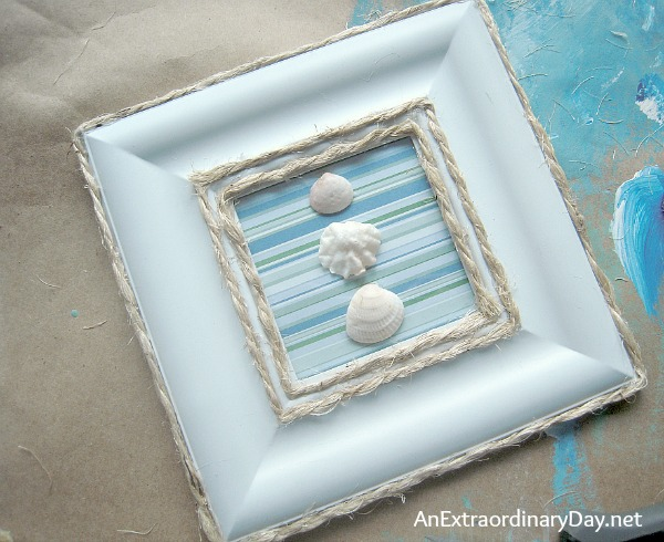 DIY Coastal Framed #Seashells :: AnExtraordinaryDay.net