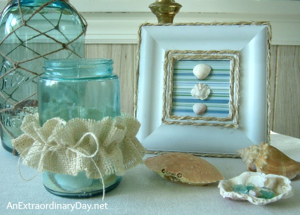 #DIY Coastal Picture Frame :: AnExtraordinaryDay.net