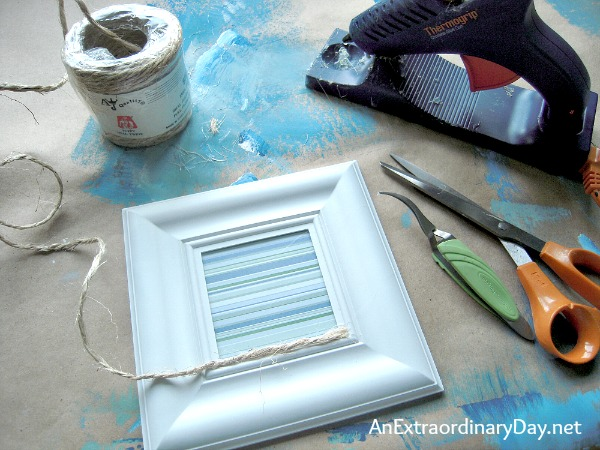 Embellish a #DollarStore Photo Frame :: Coastal Style :: AnExtraordinaryDay.net