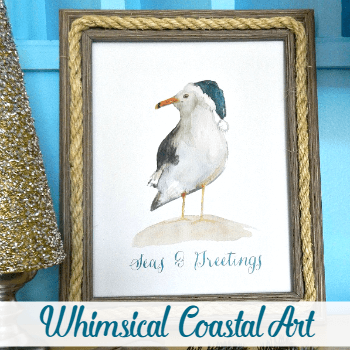 Whimsical Seagull Coastal Art