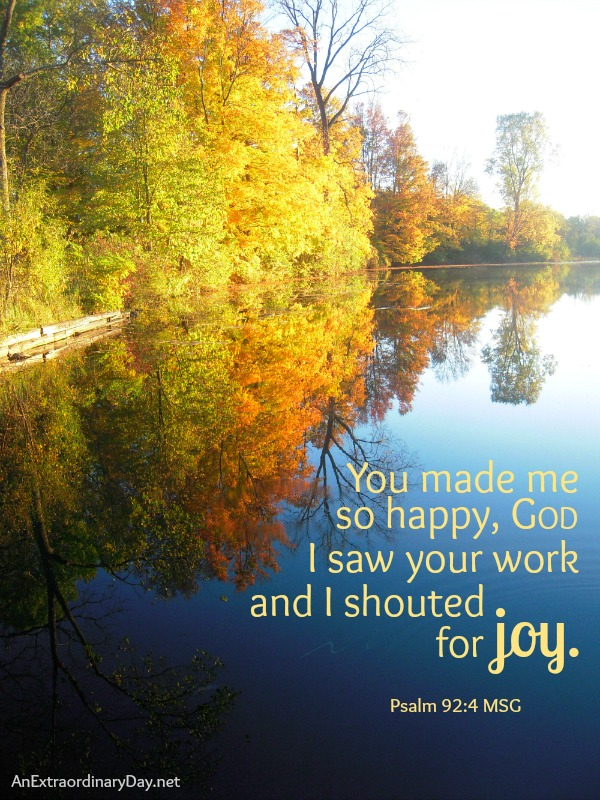 Day 20/#31Days :: You made me so happy, God :: Joy Day! :: AnExtraordinaryDay.net