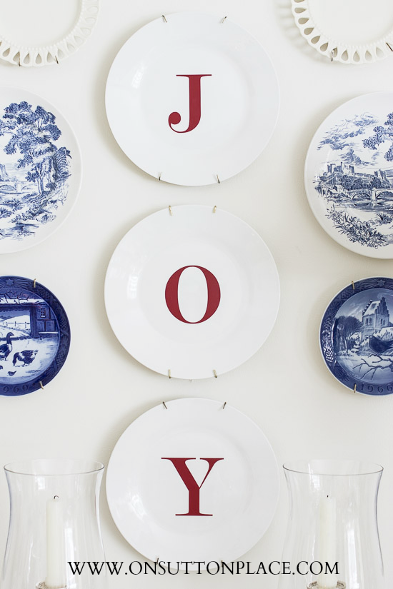 Christmas Joy Plates from On Sutton Place