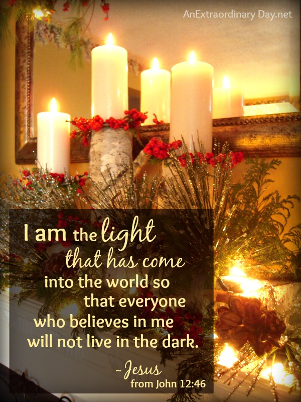 """I am the Light.""Click through for an Christmas / Advent devotional mediation.."