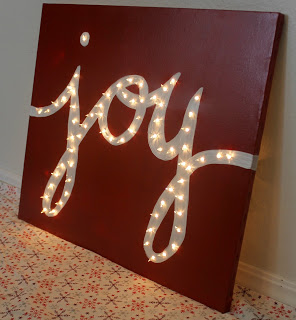 12 ways to spread christmas joy around your house for Lighted letters joy