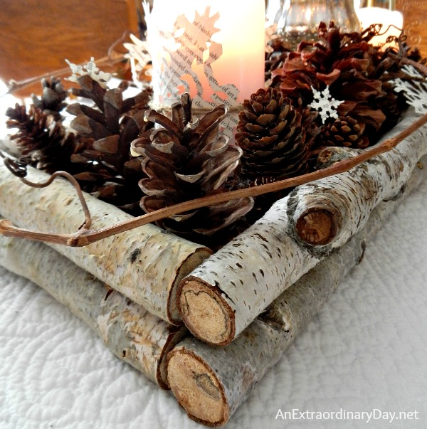 Birch branch winter woodland tablescape an extraordinary day