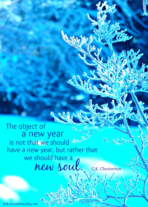 New Year's Quote and Printable The Object of a New Year :: AnExtraordinaryDay.net