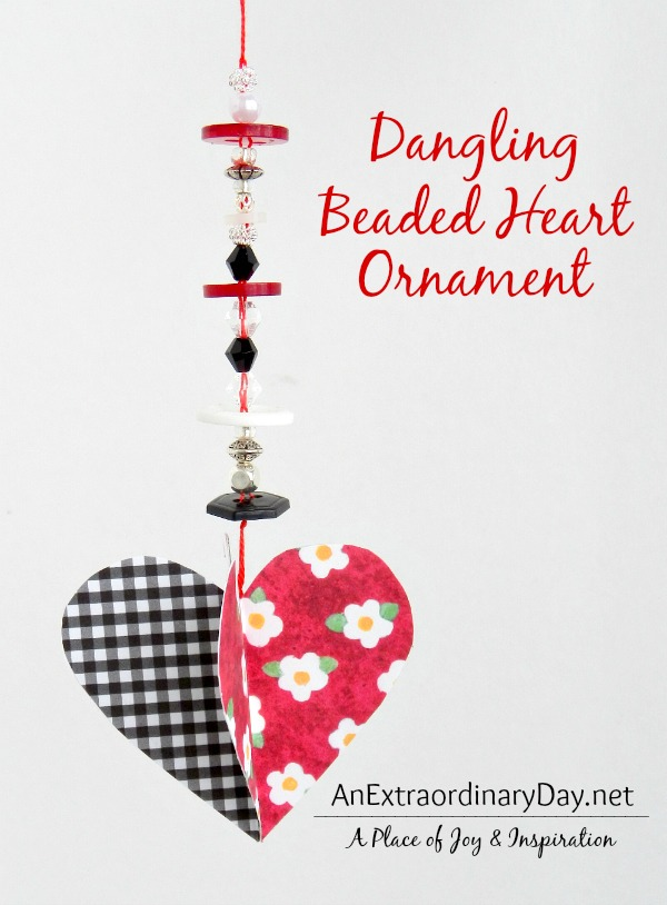 Tutorial ~ Dangling Beaded Heart Ornaments :: AnExtraordinaryDay.net