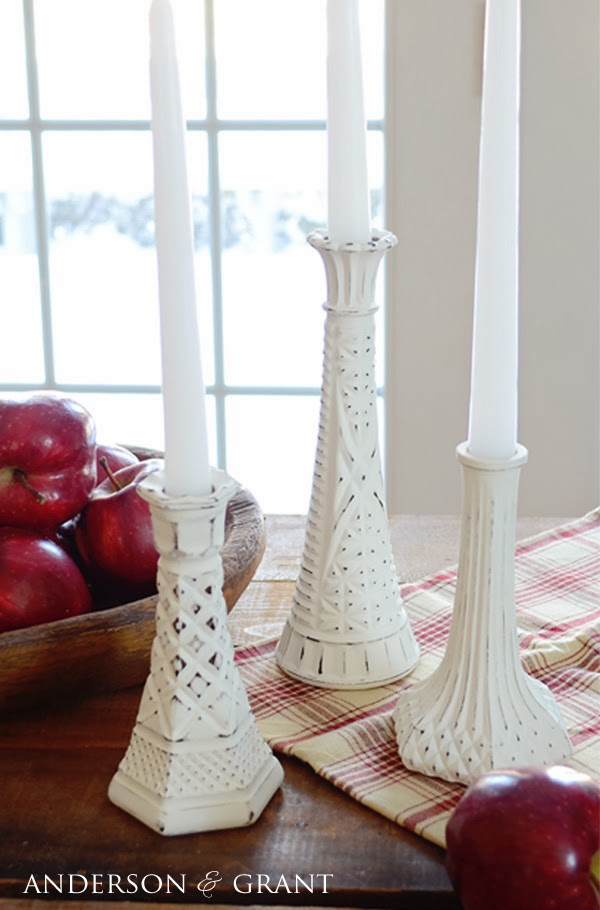 AndersonandGrant.com Thrift Store DIY Transformation Candlesticks :: Project Inspire{d} feature at AnExtraordinaryDay.net