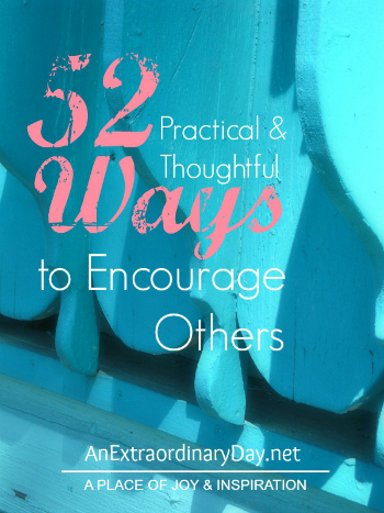 52 Ways to Encourage Others