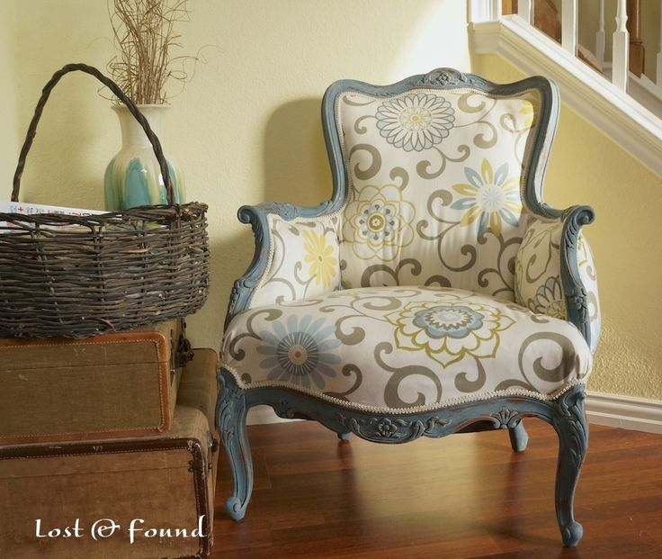 French Chair Makeover & Tutorial by Lost and Found Decor :: A Project Inspired Feature at AnExtraordinaryDay.net