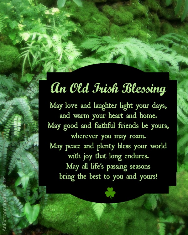 8x10 Old Irish Blessing - Free Printable :: AnExtraordinaryDay.net
