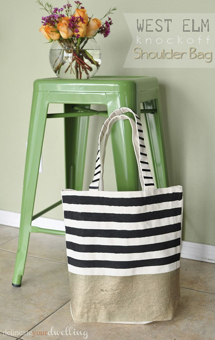 West Elm Knock off Bag by Delineate Your Dwelling :: A Project Inspired Feature at AnExtraordinaryDay.net