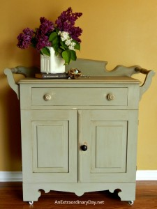 Antique Washstand with a FolkArt Home Decor Chalk Paint Makeover