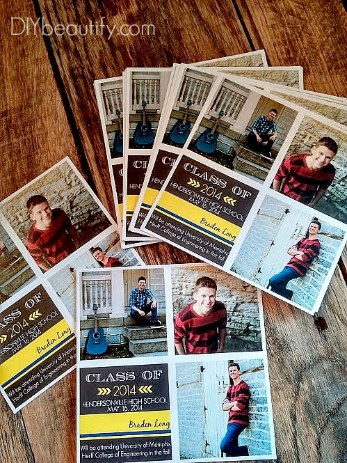 DIY Grad Announcement Using PicMonkey by DIY Beautify a Projected Inspired Feature at AnExtraordinaryDay.net