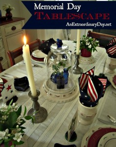 Memorial Day Tablescape Ideas | Project Inspire{d} Link Party 67 and Features