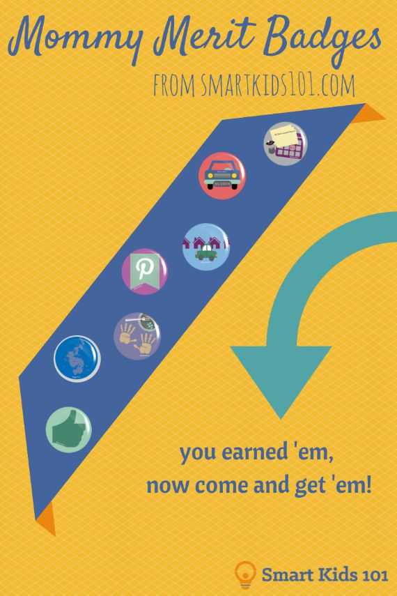 Mommy Merit Badges by Smart Kids 101 at Project Inspired feature at AnExtraordinaryDay.net