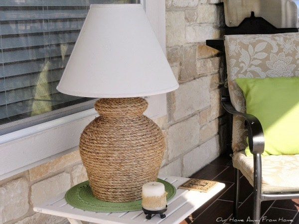 DIY Rope Lamp by Our Home Away from Home a Project Inspired feature at AnExtraordinaryDay.net