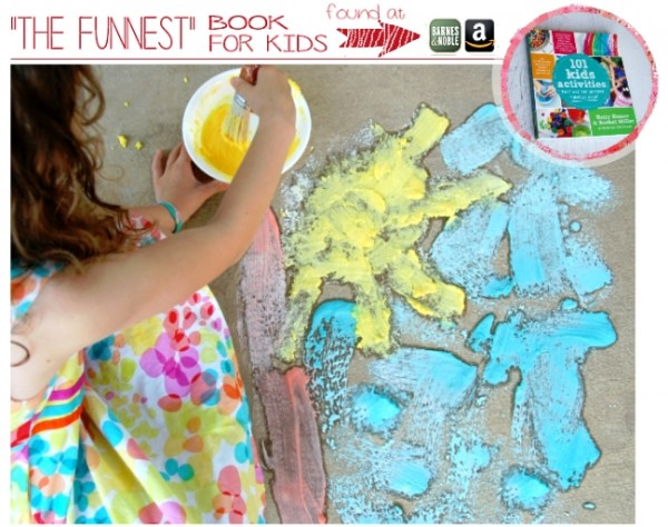 Fizzing Sidewalk Paint by Kids Activities Blog a Project Inspired feature at AnExtraordinaryDay.net