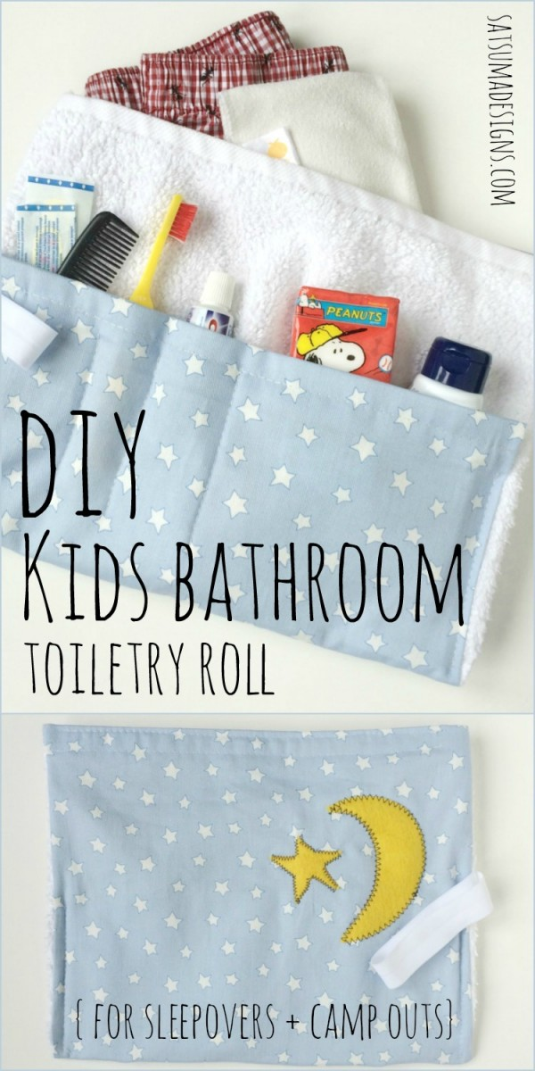 Kids Sleepover Camp Bathroom Roll by Satsuma Designs Project Inspired feature at AnExtraordinaryDay.net