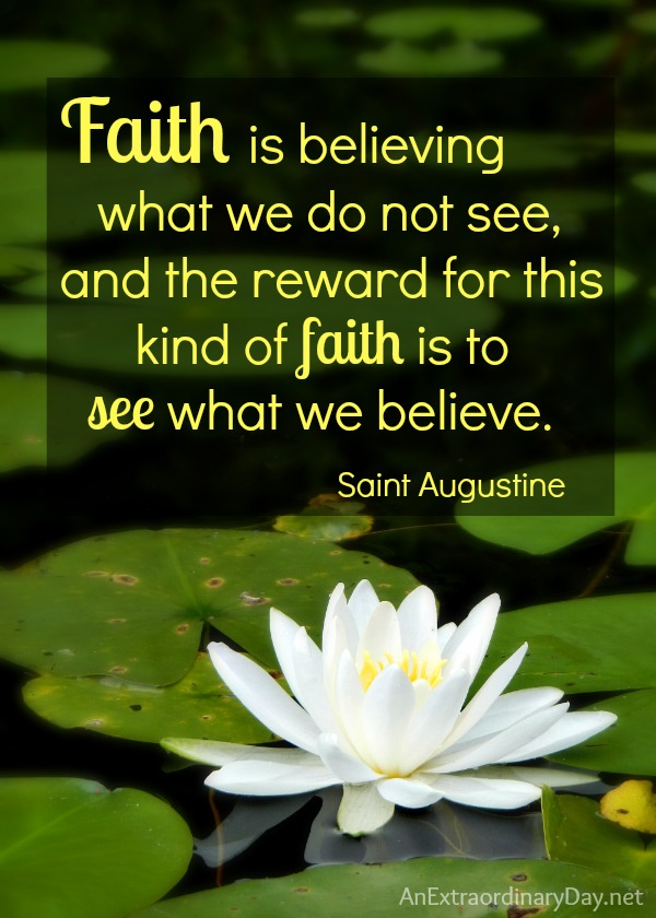 Faith is believing - St. Augustine #Quote #BlindFaith :: AnExtraordinaryDay.net