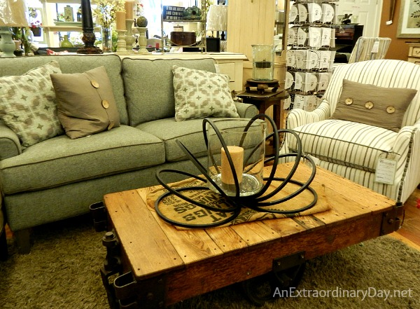Better than Pinterest :: Industrial Trolley Coffee Table at Canterbury Cottage :: AnExtraordinaryDay.net