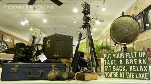Vintage Camera and Film Display at Canterbury Cottage :: AnExtraordinaryDay.net