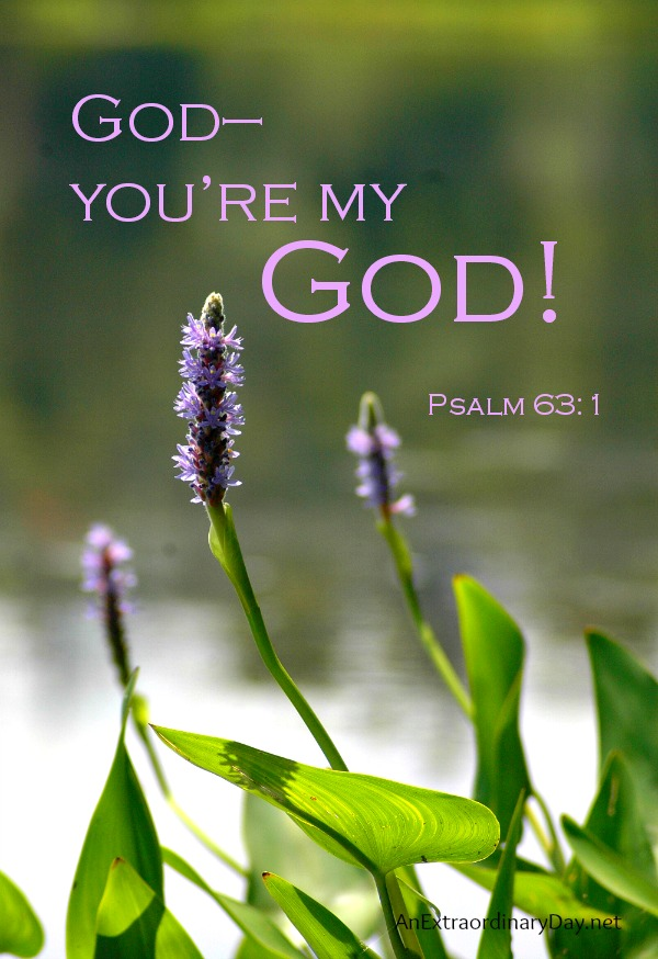God you are my God #ScriptureQuote at AnExtraordinaryDay.net