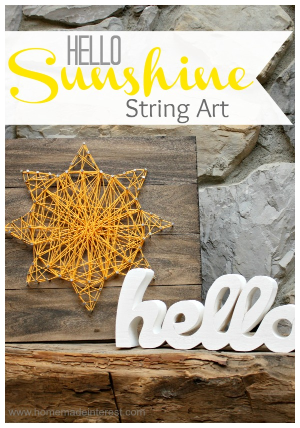 Hello-Sunshine-String-Art-by Homemade Interest a Project Inspired feature at AnExtraordinaryDaynet