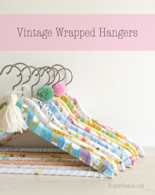 Sugar Beans creates Vintage Styled Hangers a Project Inspired feature at AnExtraordinaryDay.net